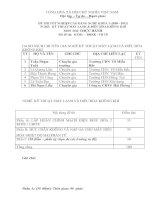 đề thi thực hành tốt nghiệp khóa 3 - kỹ thuật máy lạnh và điều hòa không khí - mã đề thi ktml - đhkk - th (10)