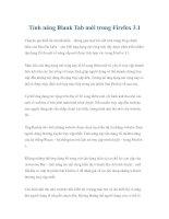 Tính năng Blank Tab mới trong Firefox 3.1 pot