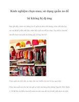 Kinh nghiệm chọn mua, sử dụng quần áo để bé không bị dị ứng pptx