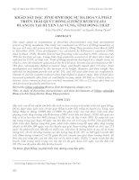 KHẢO SÁT ĐẶC TÍNH SINH HỌC SỰ RA HOA VÀ PHÁT TRIỂN TRÁI QUÝT HỒNG (CITRUS RETICULATA BLANCO) TẠI HUYỆN LAI VUNG, TỈNH ĐỒNG THÁP docx