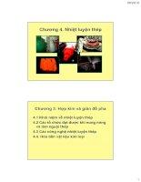 Vật liệu kim loại ( Hoàng Văn Vương ) - Chương 4. Nhiệt luyện thép potx