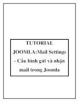 TUTORIAL JOOMLA:Mail Settings - Cấu hình gửi và nhận mail trong Joomla doc