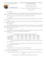 Đề thi HSG khu vực Bắc Bộ năm 2012 Môn Địa 10 pot