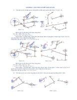 Giải bài tập nguyên lý máy - chương 1