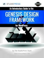 An Introductory Guide to the Genesis Design Framework for WordPress