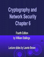 Cryptography and Network Security Chapter 6 pptx