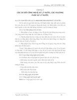 Bài giảng: Xử lý nước cấp (Chương 2) doc