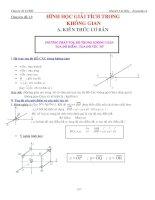 Bài tập hình học giải tích không gian