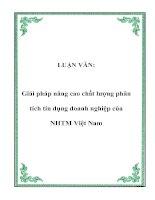 LUẬN VĂN: Giải pháp nâng cao chất lượng phân tích tín dụng doanh nghiệp của NHTM Việt Nam pdf
