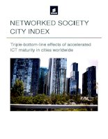 NETWORKED SOCIETY CITY INDEX : Triple-bottom-line effects of accelerated ICT maturity in cities worldwide ppt