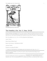 The Healthy Life, Vol. V, Nos. 24-28 pdf
