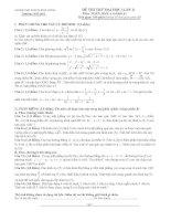 đề thi thử đại học lần 1 môn toán khối a, a1 năm 2014 - trường thpt chuyên hùng vương