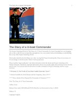 The Diary of a U-boat Commander pptx