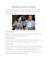 Dinh dưỡng cho người cao huyết áp pdf