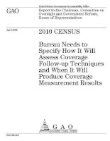 2010 census bureau needs to specify how it will assess coverage follow up pptx