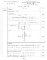 đáp án đề thi đại học môn toán năm 2011 khối a