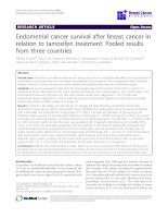Endometrial cancer survival after breast cancer in relation to tamoxifen treatment: Pooled results from three countries docx