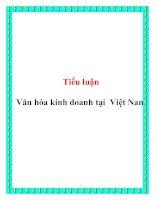 Tiểu luận: Văn hóa kinh doanh tại Việt Nam potx