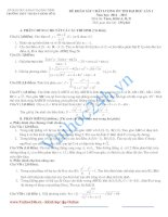 Đề thi khảo sát chất lượng lần 1 Năm 2012 - 2013 Môn toán khối A, B, D trường THPT Thuận Thành pdf