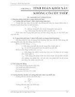 CHƯƠNG 3. TÍNH TOÁN KHỐI XÂY KHÔNG CÓ CỐT THÉP docx