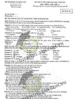 Đề thi đại học môn Tiếng anh năm 2013 - Mã đề 951 - Khối A pdf