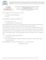 ĐỀ CHÍNH THỨC KỲ THI TUYỂN SINH VÀO LƠP 10 THPT Năm học 2012 – 2013 MÔN THI: TOÁN TỈNH VĨNH PHÚC ppt