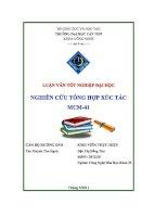 nghiên cứu tổng hợp xúc tác mcm-41
