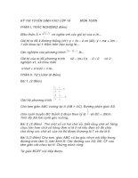 Đề Thi Thử Tuyển Sinh Lớp 10 Toán 2013 - Đề 33 pdf