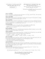 Đề thi học kì 1 môn Hóa 10 nâng cao năm 2013 trường Chu Văn An pot