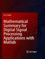 Mathematical Summary for Digital Signal Processing Applications with Matlab pdf