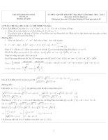 Hướng dẫn giải TUYỂN TẬP ĐỀ THI THỬ ĐẠI HỌC NĂM HỌC 2012 - 2013 MÔN TOÁN KHỐI A - MÃ SỐ A1 doc