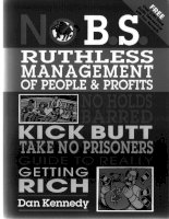 NO.B.S RUTHLESS MANAGEMENT OF PEOPLE & PROFITS docx