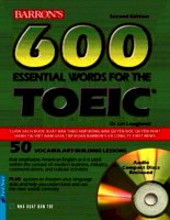 600 esential words for the toeic test - nxb trẻ