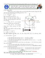 Tóm Tắt Lý Thuyết Và PP Giải Bài Tập Vật Lí 12 - Năm Học 2013 – 2014 – Tập 4