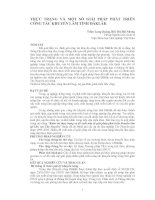 THỰC TRẠNG VÀ MỘT SỐ GIẢI PHÁP PHÁT TRIỂN CÔNG TÁC KHUYẾN LÂM TỈNH ĐĂKLĂK doc