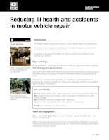 Reducing ill health and accidents in motor vehicle repair pot