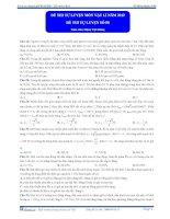 Đề thi thử đại học môn vật lí năm 2011 Khóa thầy Đặng Việt Hùng lần 8 phần 2