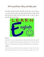 10 bí quyết học tiếng anh hiệu quả pdf