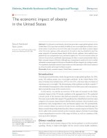 The economic impact of obesity in the United States potx