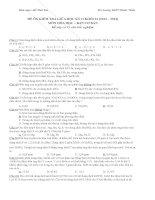 Ôn tập kiểm tra giữa kì 2 môn Hóa lớp 12