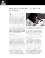 IMPROVING REPRODUCTIVE HEALTH IN ROMANIA potx