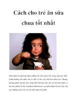 Cách cho trẻ ăn sữa chua tốt nhất pdf