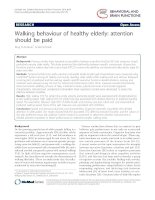 Walking behaviour of healthy elderly: attention should be paid potx