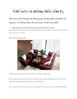 Ghế sofa và những điều cấm kỵ docx
