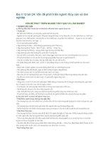 Địa lí 12 bài 24: Vấn đề phát triển ngành thủy sản và lâm nghiệp potx