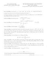 đề thi thử đại học môn toán khối d năm 2014 - thpt lương thế vinh