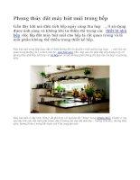 Phong thủy đặt máy hút mùi trong nhà bếp pdf