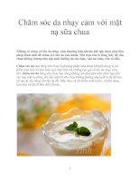 Chăm sóc da nhạy cảm với mặt nạ sữa chua potx