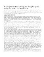 Cảm nghĩ về nhân vật ông Hai trong tác phẩm Làng của Kim Lân – bài mẫu 4