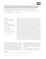 Báo cáo khoa học: Enzymes that hydrolyze adenine nucleotides of patients with hypercholesterolemia and inflammatory processes potx